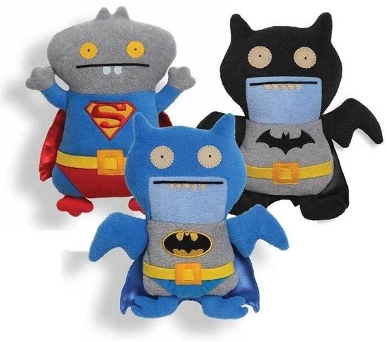 Superman Blue Ice Bat Black Ice Bat Batman Dc Comics Ugly Dolls Gund Set Of 3  #GUND