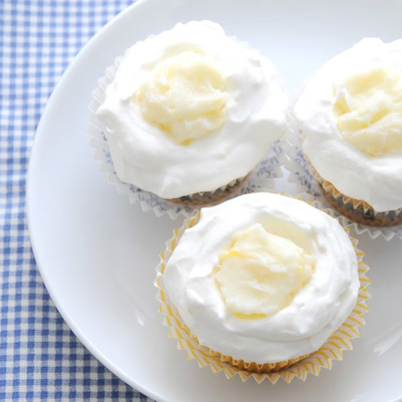 Lemon-Blueberry Cupcakes (from creature comforts)