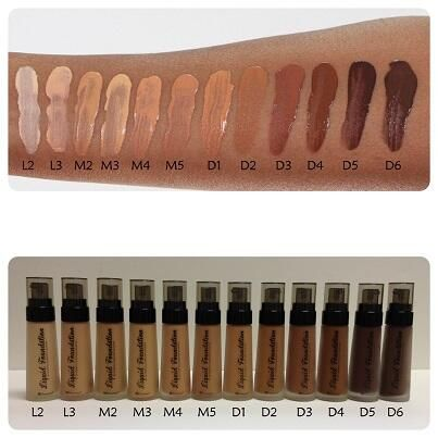 bh cosmetics liquid foundation bnib m2 sand swatched once. Black Bedroom Furniture Sets. Home Design Ideas