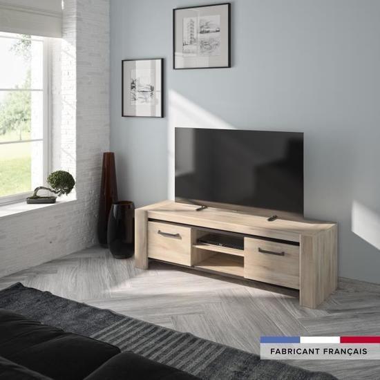 Embrun Banc Tv Made In France Pas Cher Soldes Meuble Tv Cdiscount Iziva Com En 2020 Meuble Tv Mobilier De Salon Meuble Contemporain
