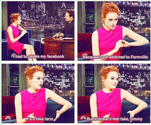 Haha!: Fake Jimmy, Giggle, Girl Crushes, Emma Stone, Feel Fake, Funny Stuff, So True, Doesn T Feel, So Funny