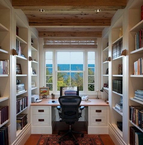 Home Office Design Layout Ideas Ruang Kerja Mebel Ruangan