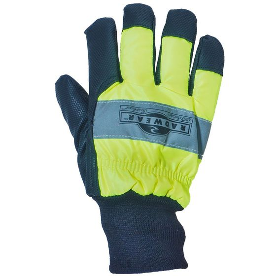 Radians Men's RWG800 High-Visibility Waterproof Green Silver Lined Glo