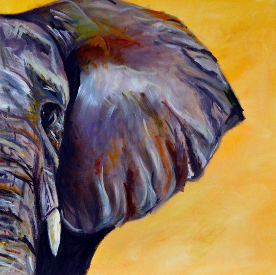 elephant oil pastel - Google Search