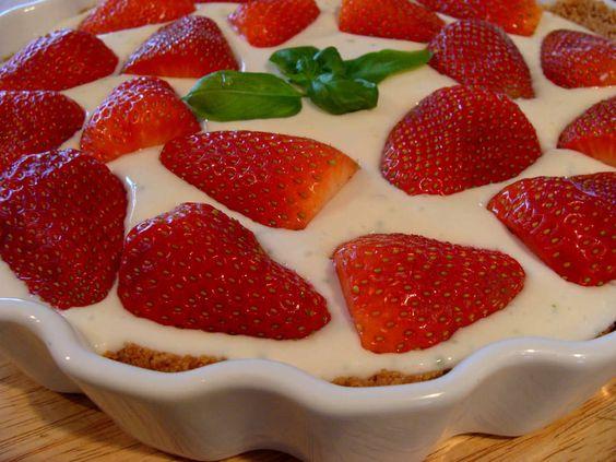 Strawberry Lemon Kefir Pie