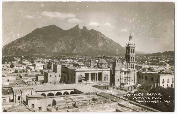 Vista Parcial Monterrey, Cerro de la Silla, Mexico RPPC picclick.com