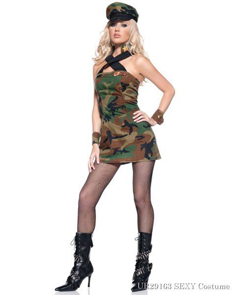Sexy Army Cadet Womens Costume,$19.96