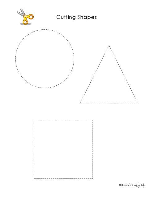 Preschool Activity Pages Practice Using Scissors Preschool Activity Shapes Preschool Preschool Preschool shape cutting worksheets