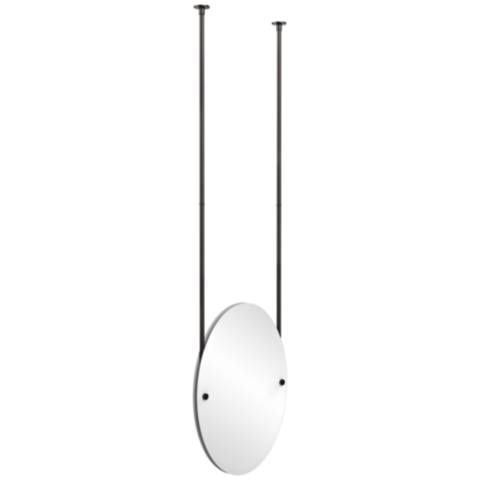 Avondale Ceiling Hung Oiled Bronze 21 X 29 Oval Mirror 9w207 Lamps Plus Oval Mirror Hanging Mirror Lamp