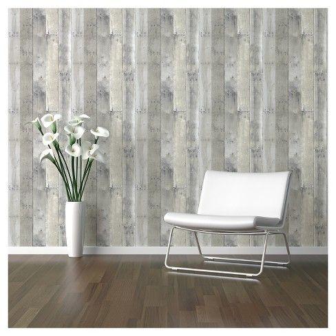 Reclaimed Wood Peel Stick Wallpaper Gray Threshold Peel And Stick Wallpaper Reclaimed Wood Buy Reclaimed Wood