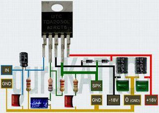 Power Amplifier Tda 2050 Bisa Sub Woofer Gurukatro Rangkaian Elektronik Elektronik Teknologi