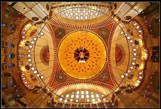 the dome of suleymaniye mosque - Suleymaniye, Istanbul