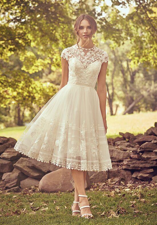 Lillian West Knee Length Lace Dress Tea Length Wedding Dress Knee Length Wedding Dress