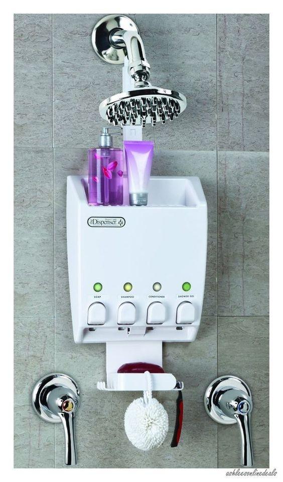 Shower Caddy Automatic Soap Shampoo Dispenser Bath Bathroom Organizer Hanging For The Home