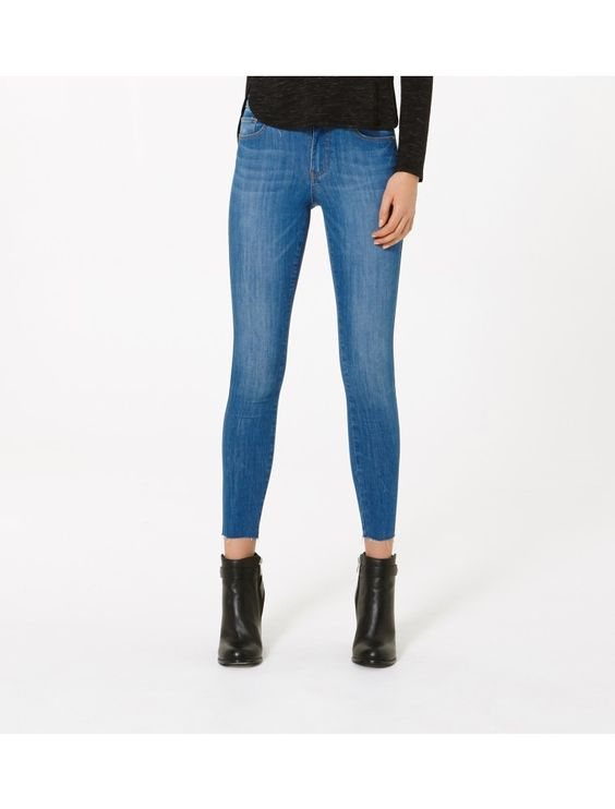 Poppy Mid Rise Ankle Grazer Jeans Dazzling Blue - Womens Fashion | Forever New