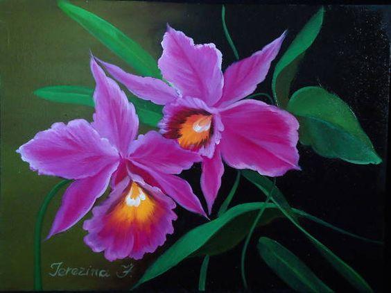orquideas pinturas al oleo , Buscar con Google