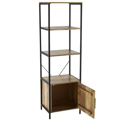 Takat 1-Door Bookcase - Natural Mango
