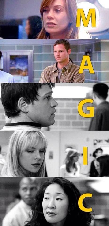 MAGIC: Meredith Grey, Alex Karev, George O'Malley, Izzie Stevens, Cristina Yang | Grey's Anatomy