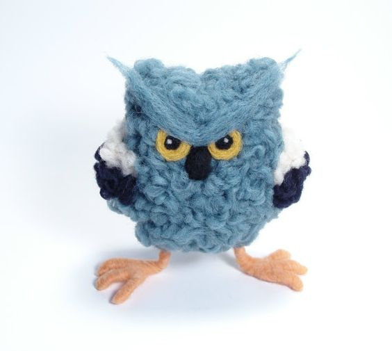 """I Ain't No Bluebird of Happiness"" Needle Felted Soft Sculpture by Bella McBride"