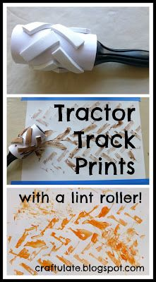 Tractor Track Prints : with a lint roller! (from Craftulate)