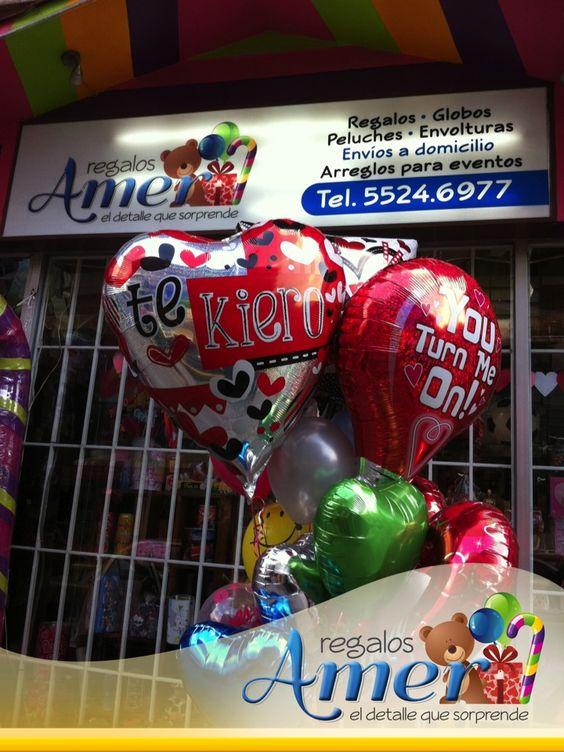 Te quiero, racimo con muchos globos de amor. 5524 6977 México DF entregas a domicilio.