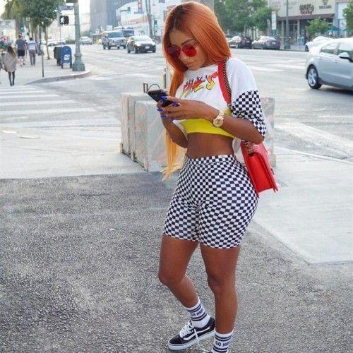 Vans Nike Adidas Converse Vansoldskool Vanssk Baddie Outfit Adidas Baddie Co Womens High Waisted Shorts Pants For Women Skinny Shorts