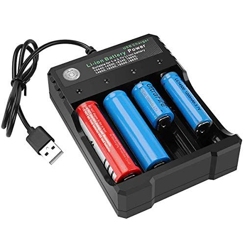 Usb Good Battery Charger 4 Bay 5v 2a For Rechargeable Batteries 3 7v Li Ion Tr Imr 1865o 2665o Battery Usb Charger Best Battery Charger Rechargeable Batteries