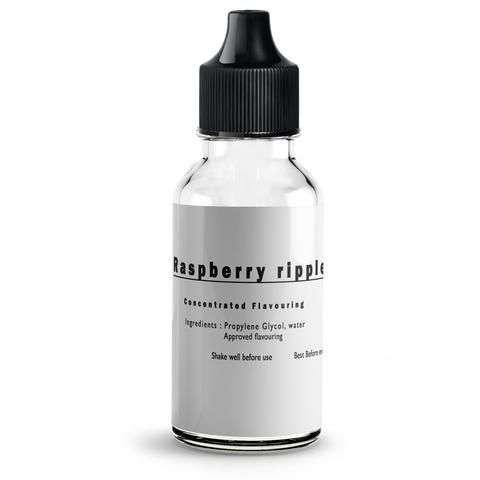 Raspberry Ripple Flavour concentrate for E liquids....Concentrated flavours made within the U.K. Amazing taste, premium quality at low prices