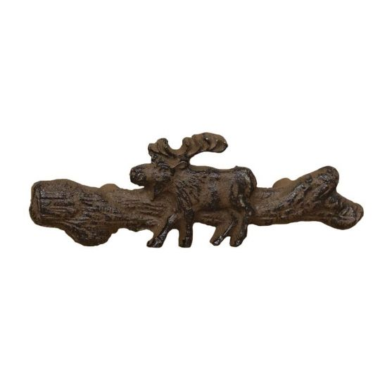 Moose Branch Drawer Pull Cast Iron Rust Iron Rust Black Forest