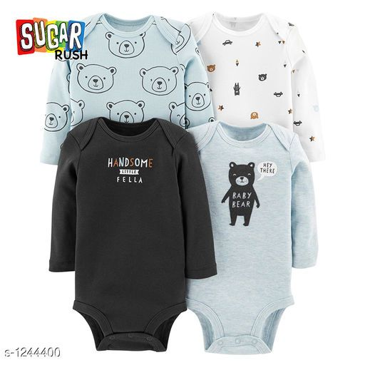 Newborn Baby Boys/' Bodysuit Pack of 3 Short Sleeve 100/% Cotton Size 0-12 Months
