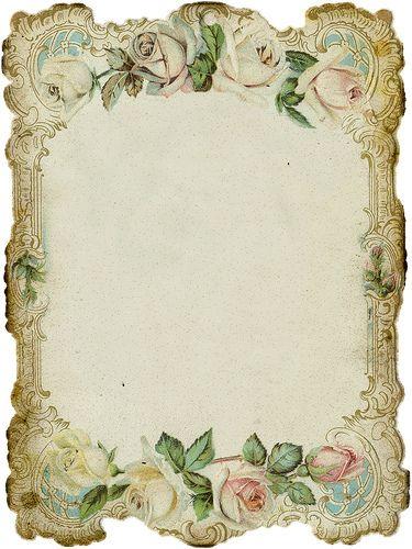 Vintage Roses Die Cut Paper ~ LÁMINAS VINTAGE, ANTIGUAS, RETRO Y POR EL ESTILO.... (pág. 26)