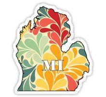Floral Michigan Sticker