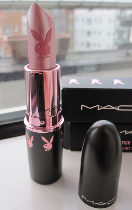 MAC lipstick in 'bunny pink'