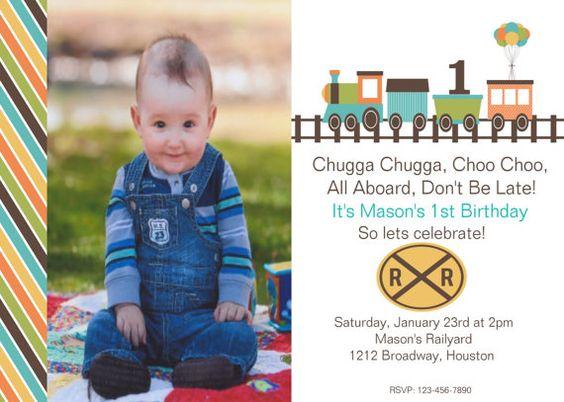 Train Birthday Party Invitation by XOXOprintshop on Etsy, $12.00