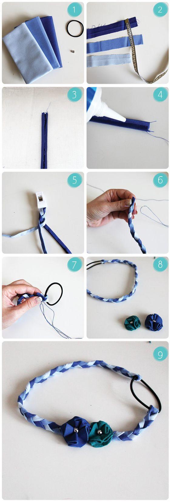 DIY – Challenge été – Accessoire cheveux : Le Headband à Fleurs | http://dododo.fr/diy-challenge-ete-accessoire-cheveux/: