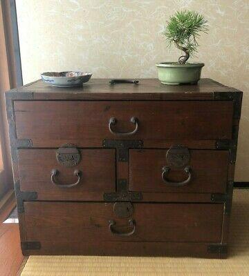 Antique Japanese Wood Small Furniture 1940s Cabinet Craft Kotansu Ebay