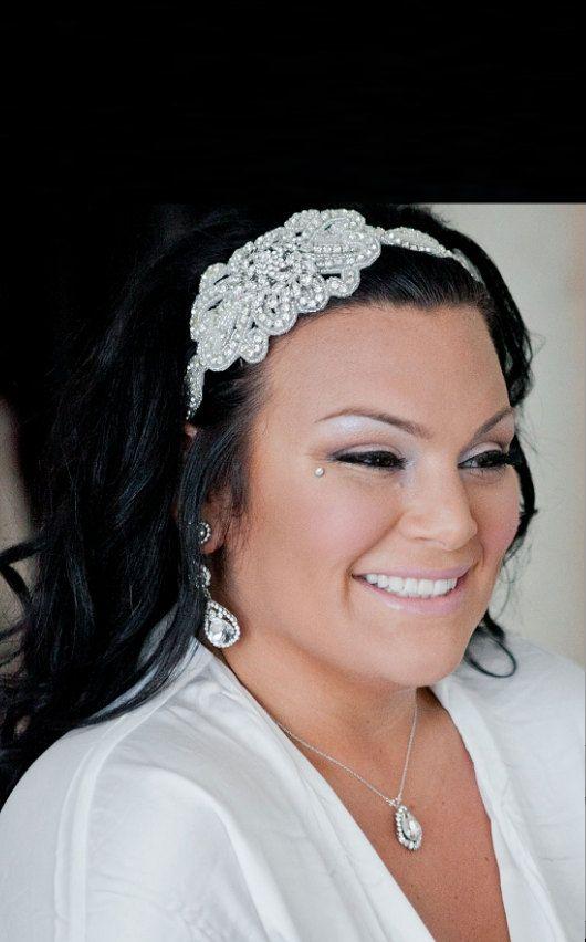 Crystal bloem hoofdband bruids hoofdband bruiloft door GlamHouse