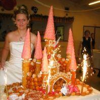 photo montee originale chateau prince princesse royale r 234 ve gateau mariage figurine mari 233