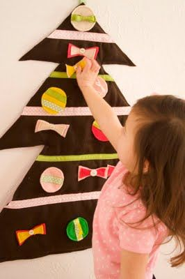 christmas tree with velcro ornaments
