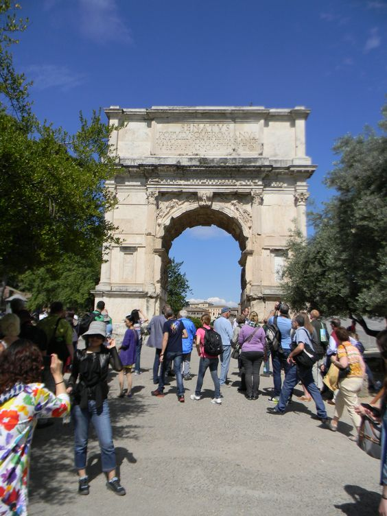 At the Arch of Titus in the Roman Forum