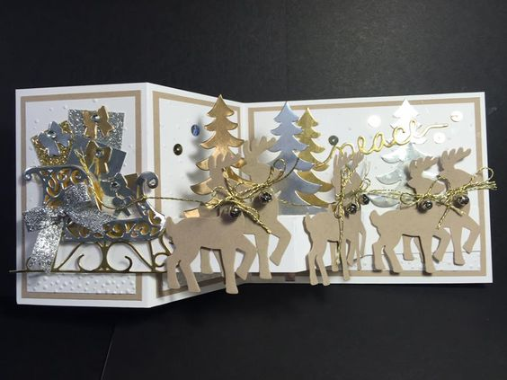 Santa's Sleigh (this project is not on her blog, she posted on FB, just making sure to give credit where credit is due :) created by: Kathy Wayson):