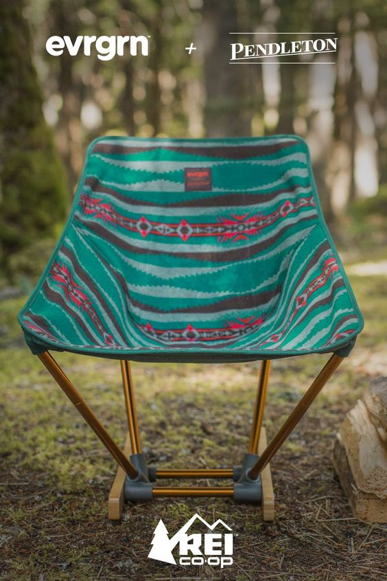 Wherever you go, you'll always get the best seat in the house with  the evrgrn campfire rocker. This limited- edition, #REImember exclusive chair is jointly created by evrgrn and Pendleton. Shop now.