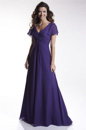 Buy Elegant A-Line V-neck Empire Waist Ruched Floor-Length Chiffon Bridesmaid dress WPBD-9549 Long Bridesmaid Dresses under $119.99 only in DressesTime.