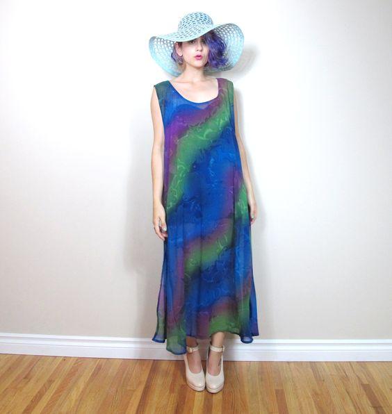 https://www.etsy.com/ca/shop/honeymoonmuse #90s #sheer #rainbow #watercolor #dress #etsy #fashion #asosmarketplace #style #oots