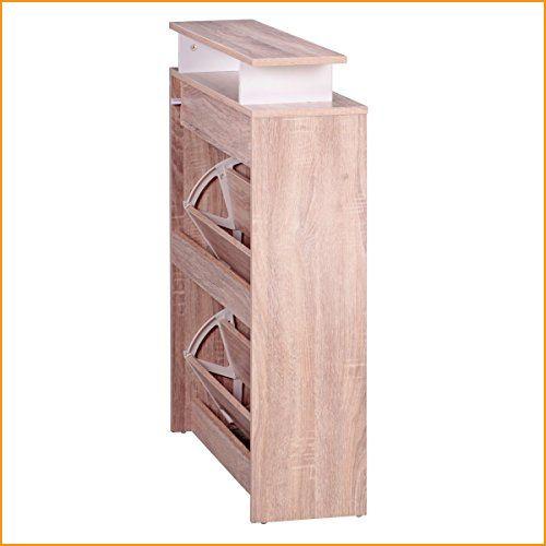 Fine Schuhschrank Mdf Sonoma Eiche 80 Cm Breit Schuhregal Design