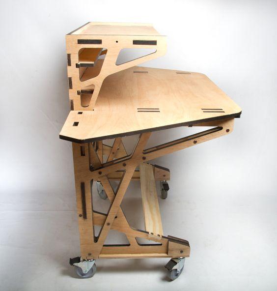 3d fabrication desk le bureau par peter borges desks. Black Bedroom Furniture Sets. Home Design Ideas