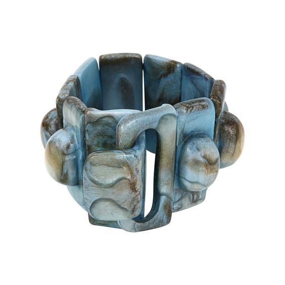 Bracelet Florence - Col. Bleu Glacier - Dominique Denaive