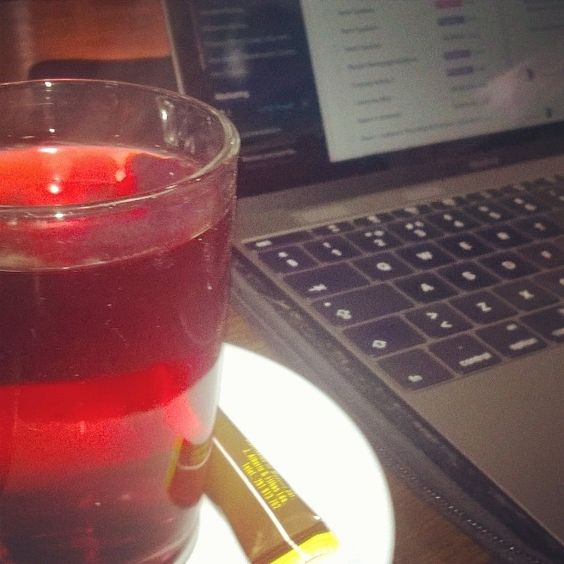 My morning ritual red berry tea and a look at what needs to get done :) #va #tea #morning #ritual