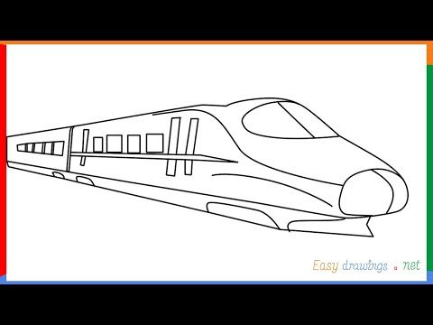 How To Draw A Train Step By Step Easy Youtube Train Coloring Pages Pictures To Draw Drawings
