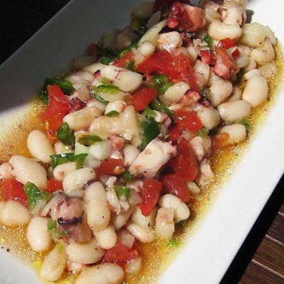 Salpicón de alubias y pulpo #recetas #gastronomia